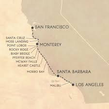 Santa Barbara California Map The Ultimate Itinerary For An Epic Big Sur Road Trip Big Sur