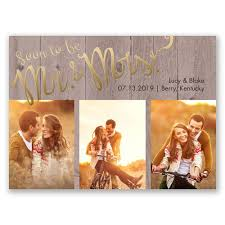 rustic save the date soon to foil save the date card invitations by