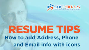 Resume Editing Resume Editing Tips How To Add Address Phone Email Info Youtube