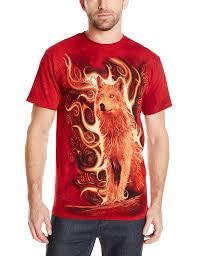 amazon com the mountain phoenix wolf t shirt clothing