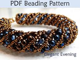 bracelet patterns free images Beading tutorial pattern bracelet necklace tubular netted stitch 37263