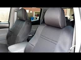 honda pilot seat covers 2014 caltrend custom seat covers center row installation on toyota