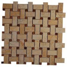 splashback tile basket braid jerusalem gold and wood onyx 12 in x