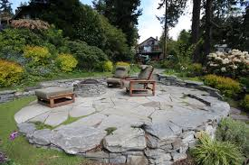 Flagstone Firepit Flagstone Pit Flagstone Firepit With Boulders