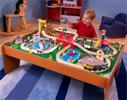 table top train set amazon com kidkraft ride around train set and table toys games