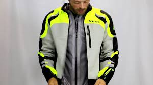 safest motorcycle jacket klim induction jacket youtube