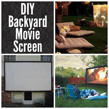 how to build a diy backyard movie screen diy for life