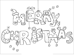 merry coloring pages that say merry happy