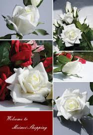 5 pieces 3 flower heads 1blossom 1semi blossom 1bud per piece