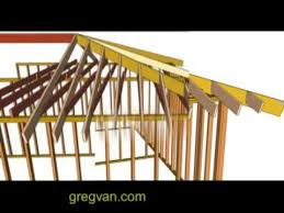 Framing A Hip Roof Porch Hip Rafter And Ceiling Joists Layout Tips House Framing Youtube