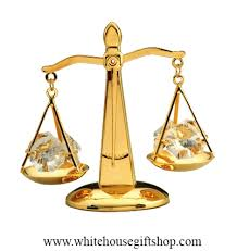 scales of justice 24kt gold plated balance crystals balance beam