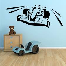 chambre f1 bedroom nursery wall decals f1 voiture de course autocollant