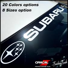 wrx subaru logo subaru windshield banner sticker decal vinyl graphic any size