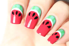 les ongles fruitiers un nail art pastèque youtube