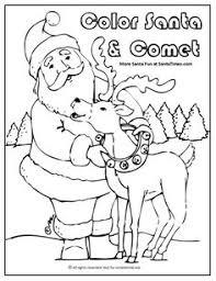 santa fills stockings christmas activity printable coloring