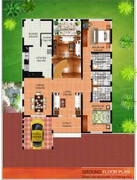 house with floor plan wide flat roof house with floor plan kerala home design and ground