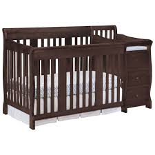 4 In 1 Convertible Crib With Changing Table Furniture Crib And Changing Table New Stork Craft Portofino 4 In