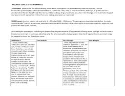 Well Written Essay Examples Argument Essay Ap Student Examples 2009 Prompt