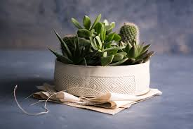 white ceramic planter large succulent planter pot modern