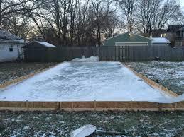 backyard ice rink diy outdoor furniture design and ideas