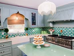 White Tile Backsplash Kitchen White Kitchen Cabinet Grey Tile Pattern Ceramic Backsplash