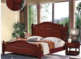Chinese Bedroom Set Modern Design Bed Room Thailand Rubber Wood Bedroom Furniture
