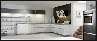 exciting modular kitchen with l shape with white color kitchen