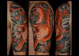 half sleeve tiger images design idea for and