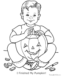 halloween pumpkin coloring pages print 012