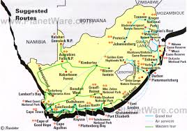 a picture of south africa map map of south africa suggested routes planetware