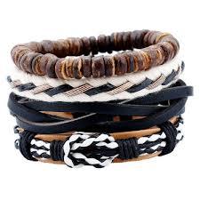 bracelet men leather images 2017 newest fashion men leather bracelets leather rope weave jpg