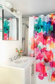 Bright Shower Curtains Shower Curtain Instead Of Shower Door Bathroom Contemporary With
