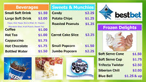 snack bar menu template league concession stand menu sign concession stand menu