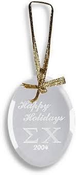 custom fraternity sorority glass ornament 12 95