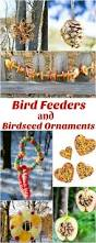 make your own homemade bird feeders and birdseed ornaments the