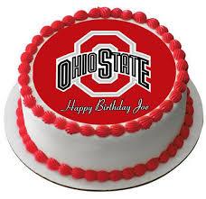 edible prints ohio state buckeyes edible cake or cupcake topper edible prints