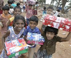 operation christmas child packaging plain target marketing