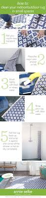 Easy To Clean Outdoor Rug 5 Easy Steps For Cleaning Your Indoor Outdoor Rug In Small Spaces