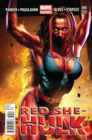 she she image red she hulk vol 1 58 horn variant jpg marvel database