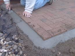 Brick Patio Pavers by Lovely Patio Paver Edging Brick Doctor Bill Home Design Photo