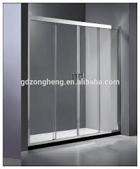 7003 1 fix 2 sliding tempered glass shower sliding doors for