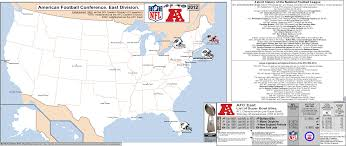 Gillette Stadium Map Nfl Afc East U2013 Map With Short League History Side Bar U0026 Titles