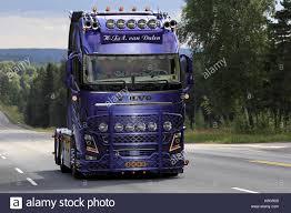volvo truck 2017 ikaalinen finland august 10 2017 beautifully customized volvo