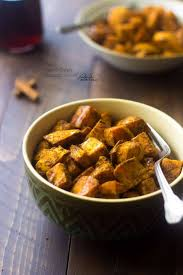 paleo maple oven roasted sweet potatoes in coconut food
