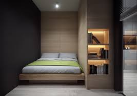 Black Feature Wall In Bedroom 4 Small Apartment Interiors Embracing Character Themes