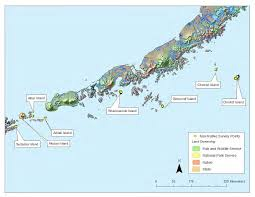 Map Of Aleutian Islands Chirikof Island Cattle Under The Gun Radio Kenai