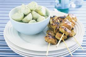 chicken skewers with moroccan style marinade