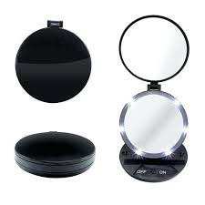 lighted travel makeup mirror 15x lighted travel mirror lighted travel mirror 15x electric lighted