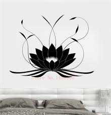 Lotus Flower Wall Decal Om by Aliexpress Com Buy E638 Wall Stickers Home Decor Wall Vinyl