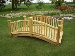 wooden bridge plans garden bridges 4 52ft long elegant wooden landscape garden bridge